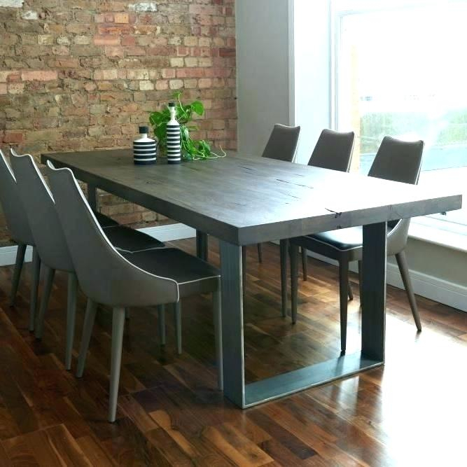 2019 Langton Reclaimed Wood Dining Tables Within Gray Wood Dining Table – Litology (#1 of 30)