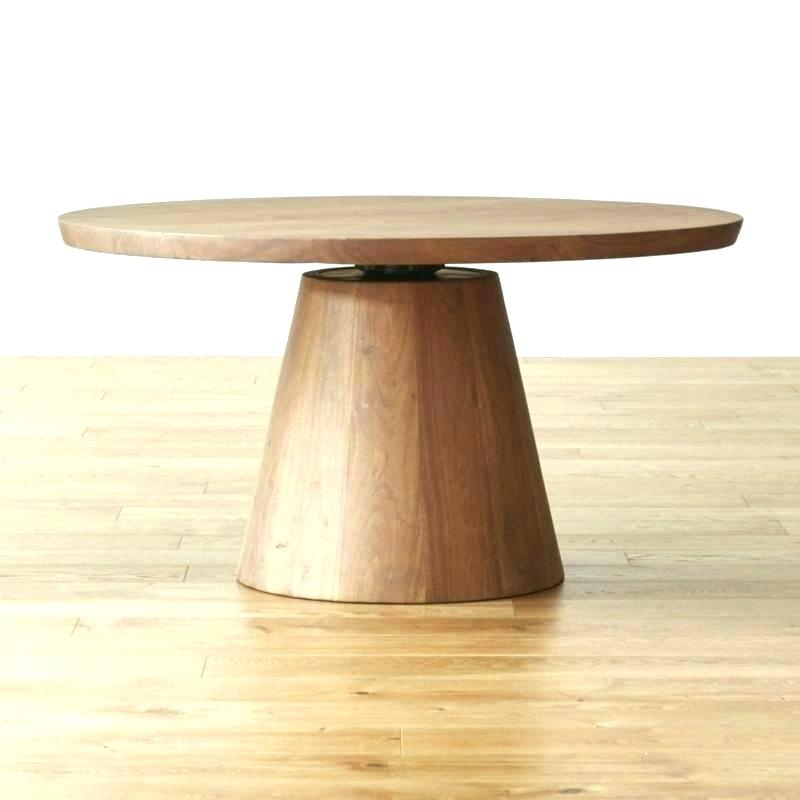 2019 Linden Round Pedestal Dining Tables Within Crate And Barrel Tablecloth – Lifecityny (View 11 of 30)