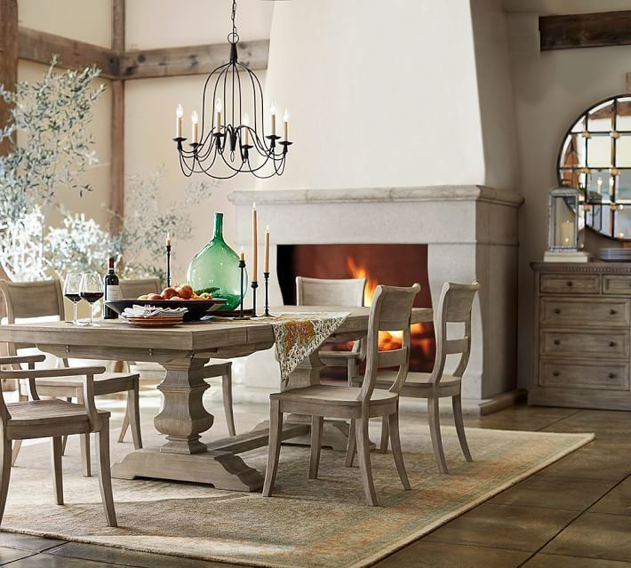 2019 Pottery Barn Banks Extending Dining Table + Buffet, Grey With Gray Wash Toscana Extending Dining Tables (#1 of 20)