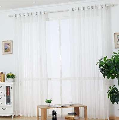 2019 White Sheer Tulle Curtain Striped Panel Window Treatment Stripe  Curtain Shade Tulle Fabric Linen Rod Pocket Rings Tape Wp039 *30 From Regarding Linen Stripe Rod Pocket Sheer Kitchen Tier Sets (#2 of 46)