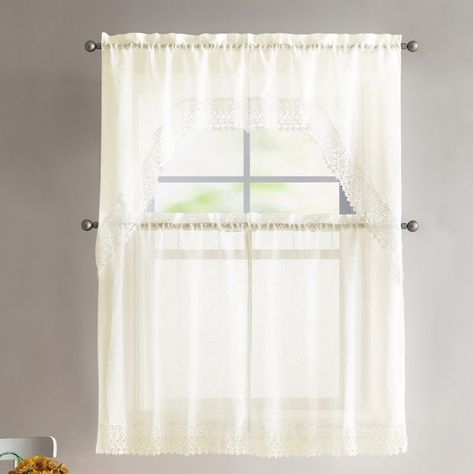 24 Gorgeous Tips And Hints For #sheercurtains With Regard To White Tone On Tone Raised Microcheck Semisheer Window Curtain Pieces (#6 of 46)