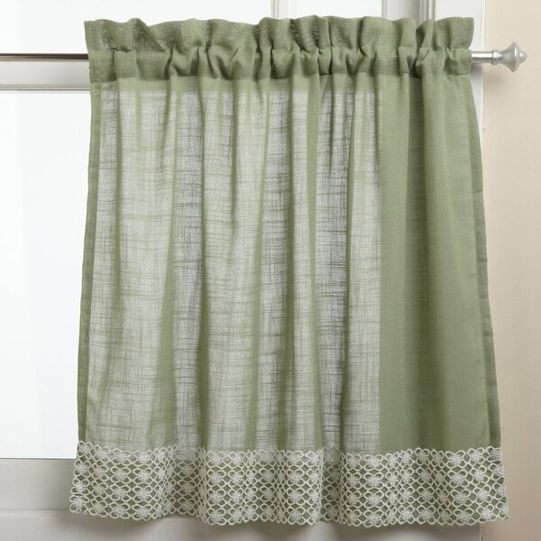 24 Inch Curtains Kitchen | Wayfair Pertaining To Embroidered Chef Black 5 Piece Kitchen Curtain Sets (View 1 of 42)
