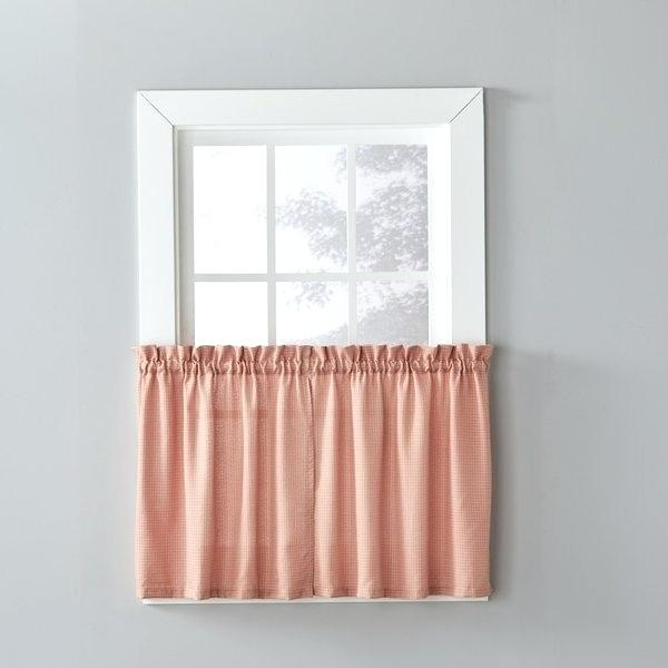 24 Inch Tier Curtains – Feriaespiritualmente With Regard To Sheer Lace Elongated Kitchen Curtain Tier Pairs (#3 of 30)