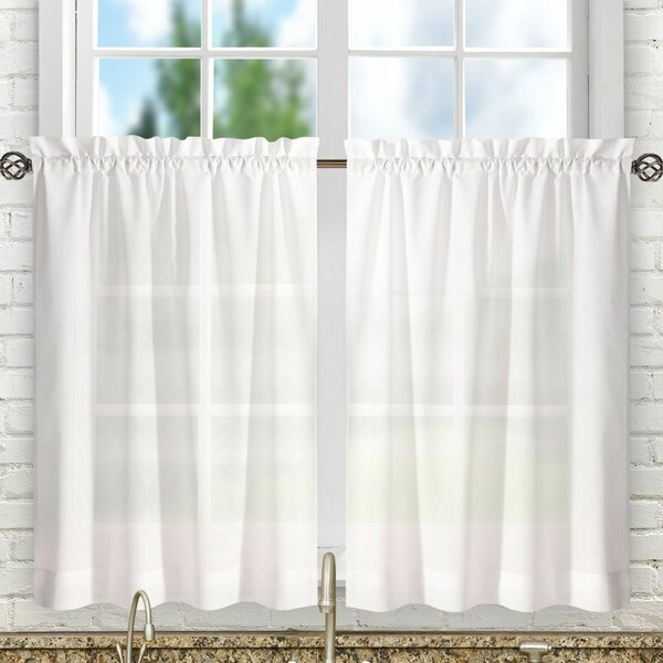 24 Inch Tier Curtains | Wayfair Throughout Country Style Curtain Parts With White Daisy Lace Accent (View 2 of 50)