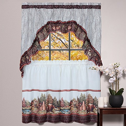 25 Greatest Swag Windows – Top Decor Tips Intended For Scroll Leaf 3 Piece Curtain Tier And Valance Sets (View 33 of 50)