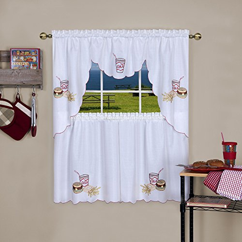 25 Greatest Swag Windows – Top Decor Tips Pertaining To Cotton Blend Ivy Floral Tier Curtain And Swag Sets (View 2 of 30)