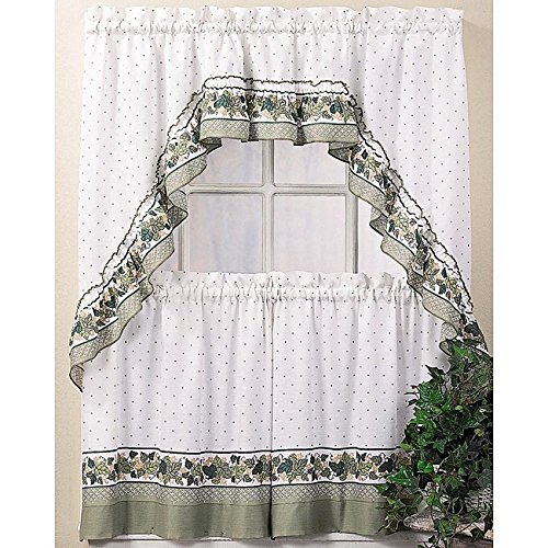25 Greatest Swag Windows – Top Decor Tips Within Scroll Leaf 3 Piece Curtain Tier And Valance Sets (View 43 of 50)