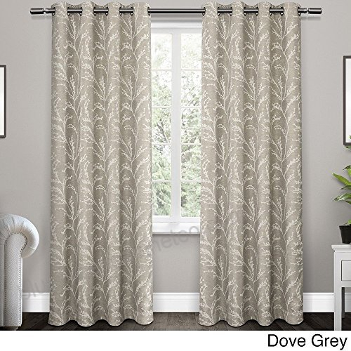 2Pc Girls Dove Grey Floral Nature Window Curtain 84 Pair Throughout Dove Gray Curtain Tier Pairs (View 2 of 30)