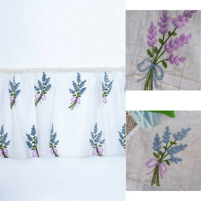 Inspiration about 3 Piece Flower Embroidery Jacquard Kitchen Window Set With Regard To Imperial Flower Jacquard Tier And Valance Kitchen Curtain Sets (#27 of 46)
