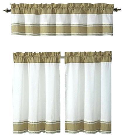 3 Piece Kitchen Curtain Set – Freddybeach (View 1 of 50)