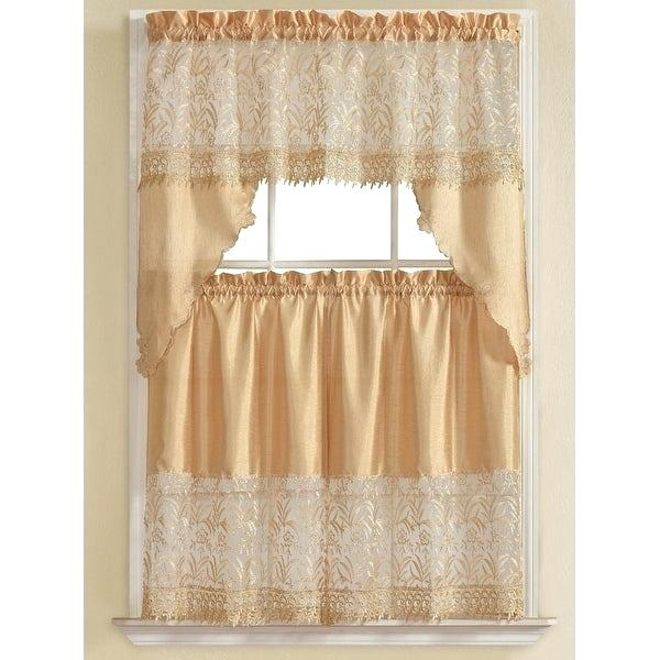 3 Piece Kitchen Curtain Set – Freddybeach (View 22 of 50)