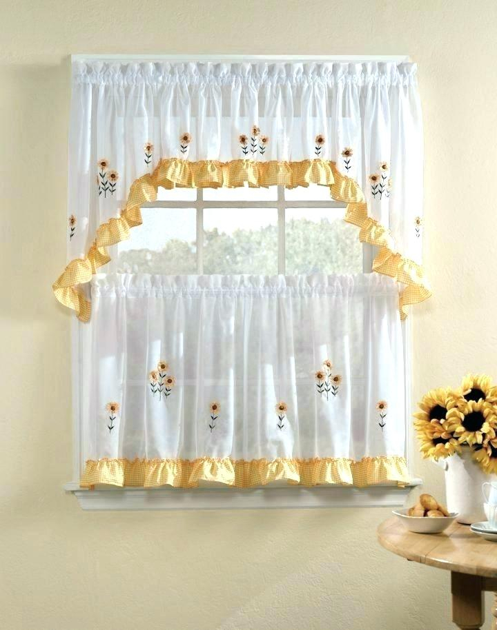 Inspiration about 3 Piece Kitchen Curtain Set – Freddybeach.co Regarding Lodge Plaid 3 Piece Kitchen Curtain Tier And Valance Sets (#16 of 30)