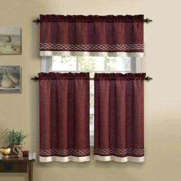 Inspiration about 3 Piece Kitchen Curtain Set – Freddybeach.co With Regard To Lodge Plaid 3 Piece Kitchen Curtain Tier And Valance Sets (#24 of 30)