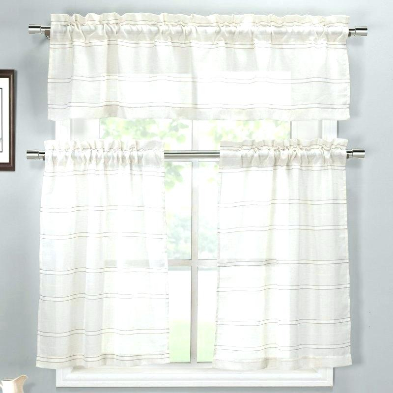 Inspiration about 3 Piece Kitchen Curtain Set – Pilarkaltim.co For Sunflower Cottage Kitchen Curtain Tier And Valance Sets (#41 of 50)