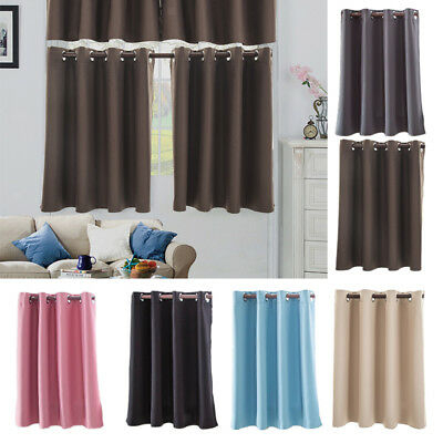 3 Piece Set Decorative Beth Blackout Modern Kitchen Curtain Intended For Twill 3 Piece Kitchen Curtain Tier Sets (View 12 of 42)