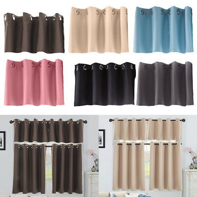 3 Piece Set Decorative Beth Blackout Modern Kitchen Curtain Regarding Twill 3 Piece Kitchen Curtain Tier Sets (View 27 of 42)