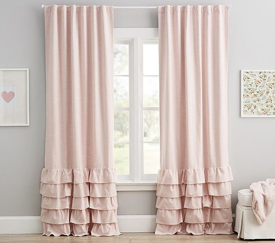 Inspiration about 30 Blackout Curtain Ideas For Kids: #17 Is So Cool! – The With Regard To Bermuda Ruffle Kitchen Curtain Tier Sets (#41 of 50)