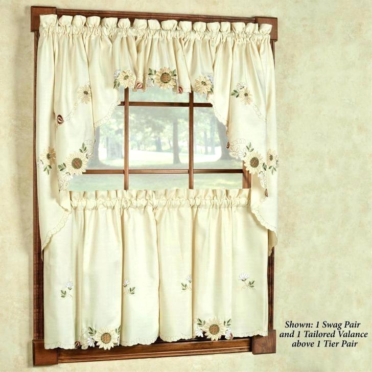30 Inch Long Curtains – Trackidz Throughout Solid Microfiber 3 Piece Kitchen Curtain Valance And Tiers Sets (#3 of 50)