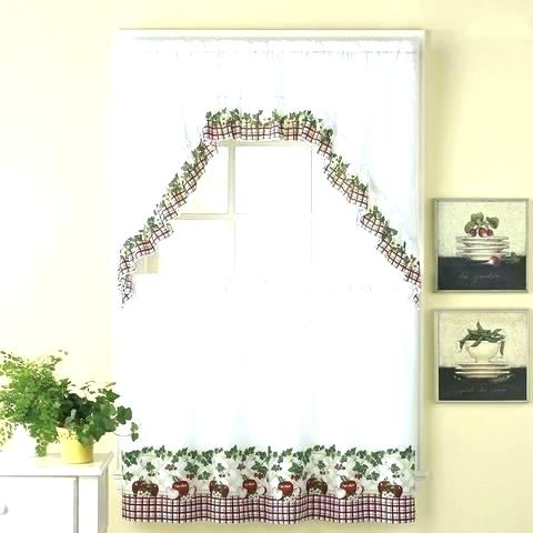 Inspiration about 36 Inch Tier Curtains – Home Ideas Within Sheer Lace Elongated Kitchen Curtain Tier Pairs (#12 of 30)