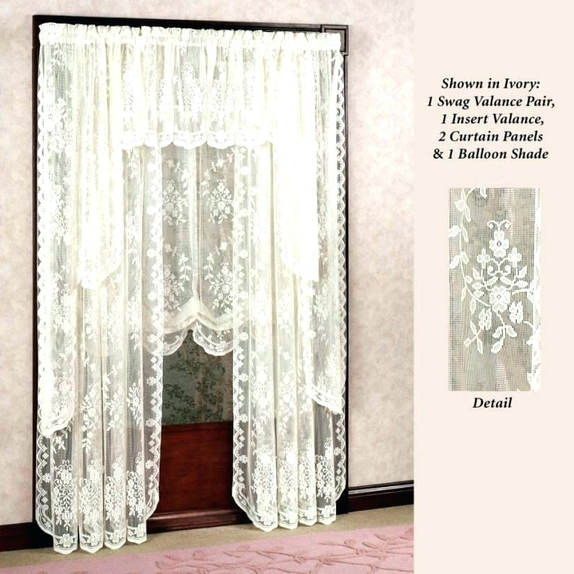 Inspiration about 36 Inch Tier Curtains – Home Ideas Within Sheer Lace Elongated Kitchen Curtain Tier Pairs (#9 of 30)