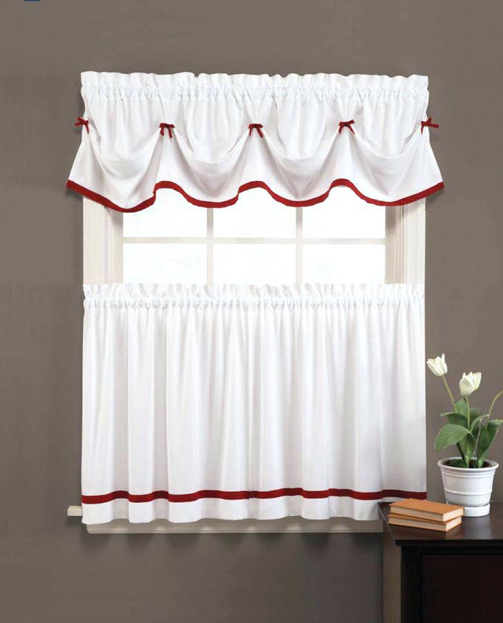 36 Inch Window Curtains Tier Curtains Window Curtains White Regarding Cottage Ivy Curtain Tiers (#3 of 49)