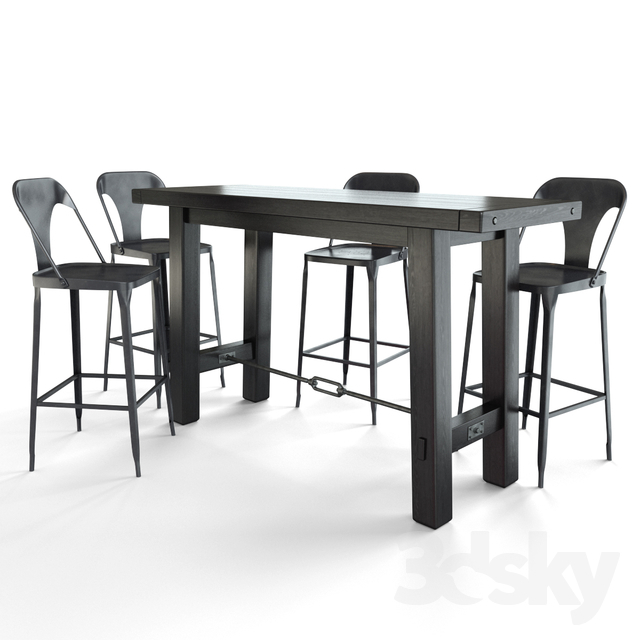Inspiration about 3D Models: Table + Chair – Benchwright Bar Table + Maxx Regarding Famous Benchwright Counter Height Tables (#7 of 20)