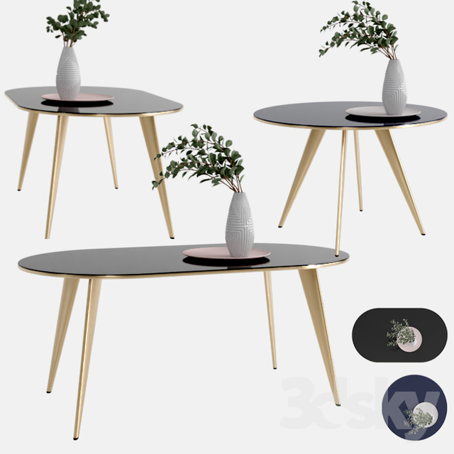 Inspiration about 3D Models: Table – West Elm Arden Dining Table In Most Up To Date West Dining Tables (#11 of 30)