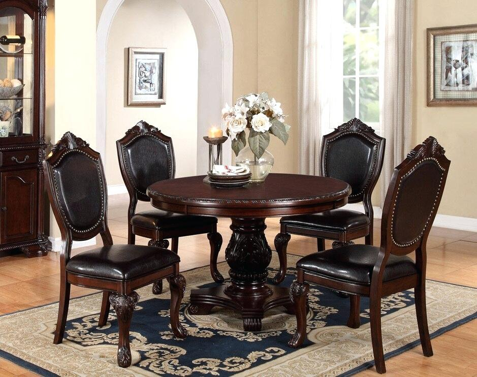 48 Round Wood Dining Table – Elegancegroup (#1 of 20)