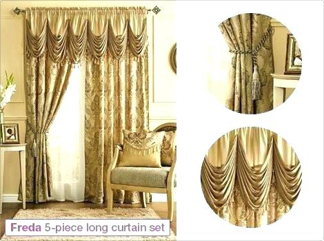 Inspiration about 5 Piece Curtain Set – Josplaceonline Throughout Embroidered Chef Black 5 Piece Kitchen Curtain Sets (#42 of 42)