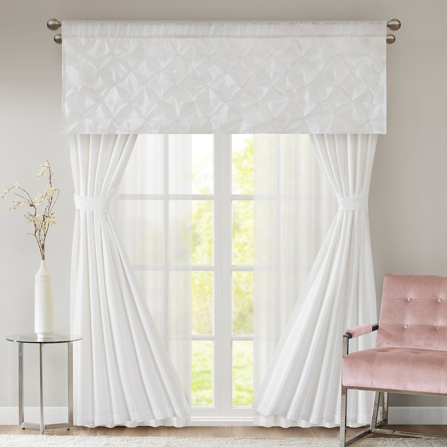 Inspiration about 510 Design Tatiana 7 Piece Window Set | Products | Curtains Within Elegant White Priscilla Lace Kitchen Curtain Pieces (#27 of 30)