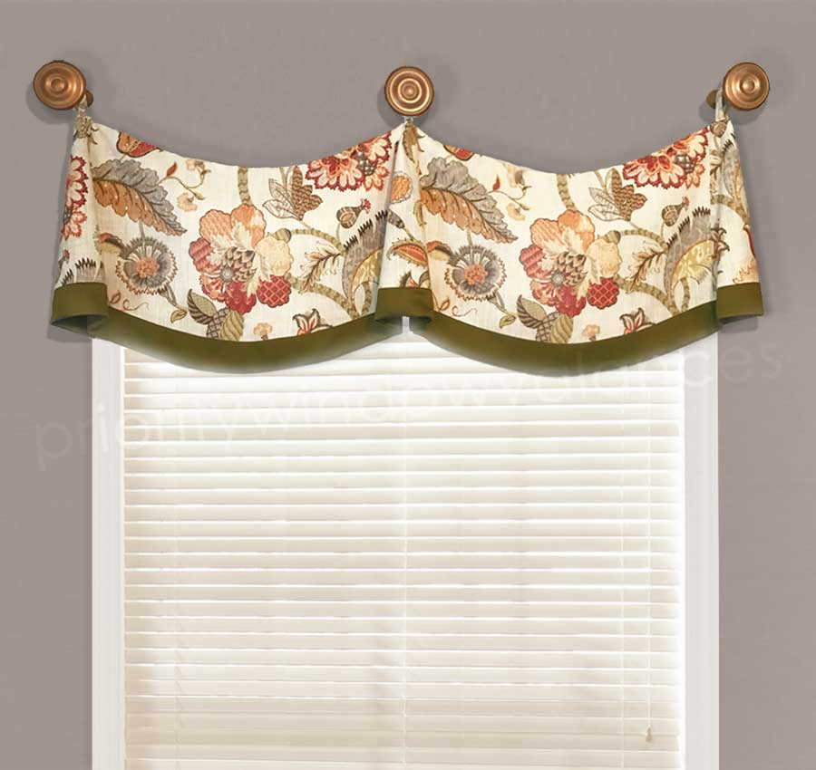 6 Design Rules For Valances Hung On Medallions (knobs) Throughout Medallion Window Curtain Valances (View 16 of 48)