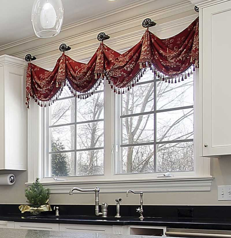 6 Design Rules For Valances Hung On Medallions (Knobs) With Medallion Window Curtain Valances (#4 of 48)
