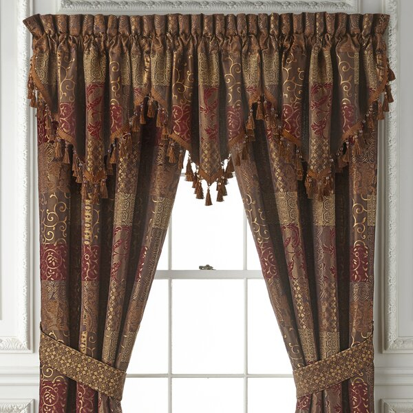 63 Inch Swag Curtain | Wayfair Inside Cotton Blend Ivy Floral Tier Curtain And Swag Sets (View 6 of 30)
