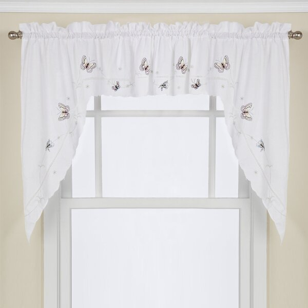 63 Inch Swag Curtains | Wayfair Regarding Embroidered 'Coffee Cup' 5 Piece Kitchen Curtain Sets (View 4 of 30)