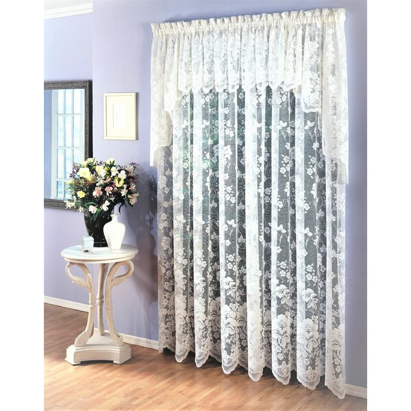 94 Inch Sheer Curtains | Wayfair Inside Ivory Micro Striped Semi Sheer Window Curtain Pieces (#4 of 50)