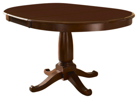 """A America Desoto 60"""" Oval Dining Table With 18"""" Leaf In Trendy Johnson Round Pedestal Dining Tables (View 7 of 20)"""