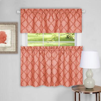 Achim Barnyard Navy Polyester Tier And Valance Curtain Set Inside Barnyard Window Curtain Tier Pair And Valance Sets (View 5 of 50)