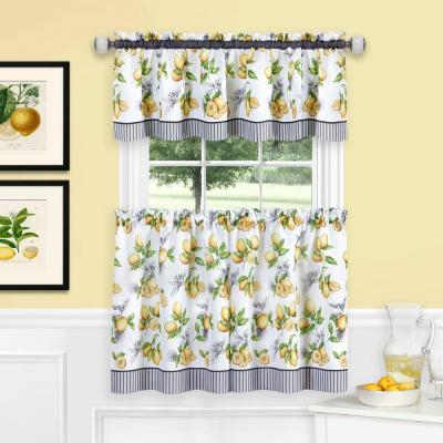 Achim Barnyard Navy Polyester Tier And Valance Curtain Set Intended For Barnyard Window Curtain Tier Pair And Valance Sets (View 6 of 50)