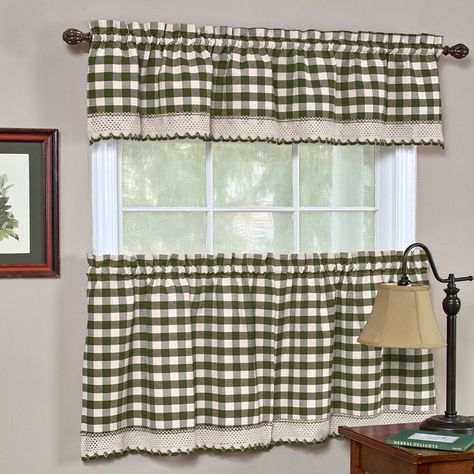 Achim Country Garden Printed Tier And Swag Window Curtain For Scroll Leaf 3 Piece Curtain Tier And Valance Sets (View 49 of 50)
