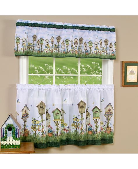 Achim Country Garden Printed Tier And Swag Window Curtain Inside Dakota Window Curtain Tier Pair And Valance Sets (View 25 of 30)