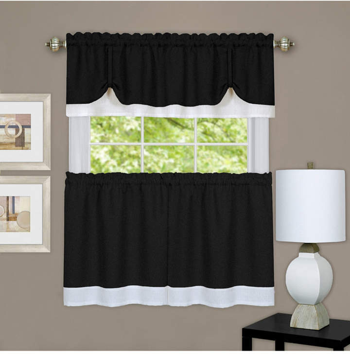 Achim Darcy Window Curtain Tier And Valance Set, 58X36 Pertaining To Barnyard Window Curtain Tier Pair And Valance Sets (View 8 of 50)