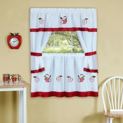Achim Gala 36 Inch Kitchen Window Curtain Tier Pair And Intended For Barnyard Window Curtain Tier Pair And Valance Sets (View 9 of 50)