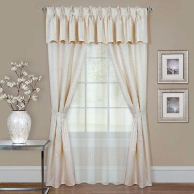 Achim Sheer Fairfield Burgundy Window Curtain Set – 55 In (#6 of 50)