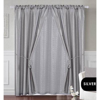 Achim Sheer Fairfield Burgundy Window Curtain Set – 55 In (#7 of 50)