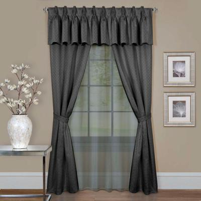 Achim Sheer Fairfield Burgundy Window Curtain Set – 55 In (#8 of 50)