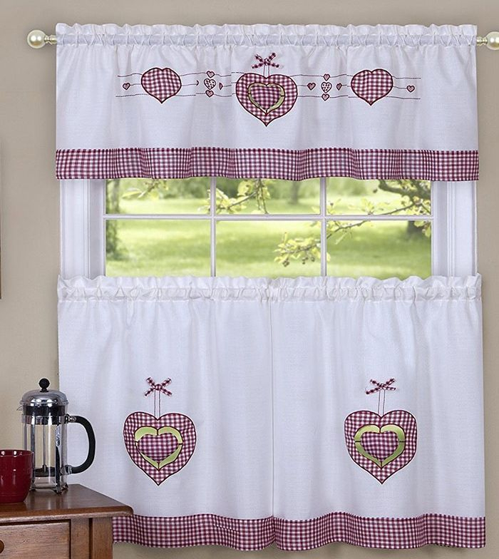 Achim Valance: 20 Listings Inside Delicious Apples Kitchen Curtain Tier And Valance Sets (View 20 of 30)