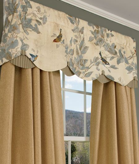 Additional Views: Aviary Lined Layered Scalloped Valance With Regard To Aviary Window Curtains (View 1 of 30)