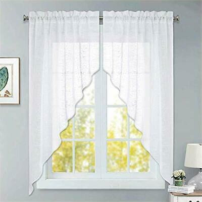 """Adirondack Cotton Kitchen Window Curtain 36"""" Tiers, Swags Throughout Cotton Classic Toast Window Pane Pattern And Crotchet Trim Tiers (View 7 of 50)"""
