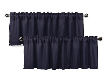 Aiking Home Semi Sheer 36 Inch Cafe Curtains / Tier Panels Intended For Semi Sheer Rod Pocket Kitchen Curtain Valance And Tiers Sets (View 20 of 50)