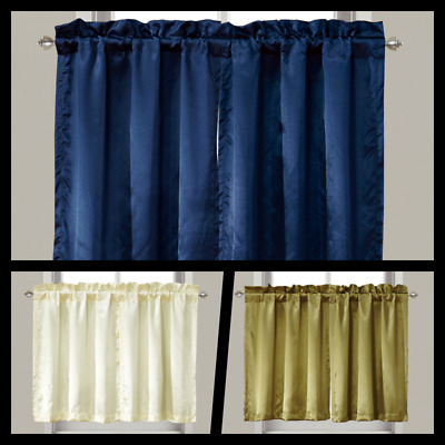 Aiking Home Semi Sheer 36 Inch Cafe Curtains / Tier Panels Within Semi Sheer Rod Pocket Kitchen Curtain Valance And Tiers Sets (View 24 of 30)